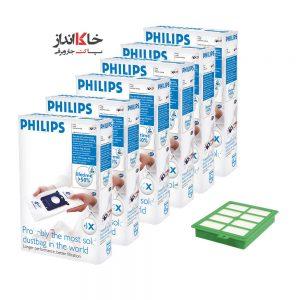 پاکت جاروبرقی فیلیپس6d+1f Vacuum Cleaner Dust Bag Philips ارسال رایگان